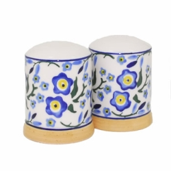 Forget Me Not Salt  and  Pepper Shakers