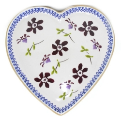 Clematis Med Heart Shaped Plate