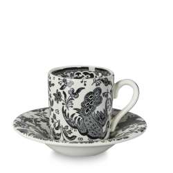 Black Regal Peacock Espresso Cup and Saucer