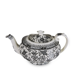Black Regal Peacock Medium Teapot