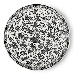 Black Regal Peacock Cake Plate