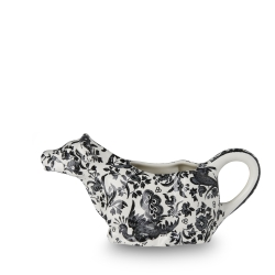 Black Regal Peacock Boxed Cow Creamer