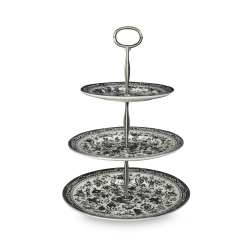 Black Regal Peacock 3 Tier Cake Stand (Gift Boxed)
