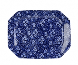 Blue Calico Rectangular Platter