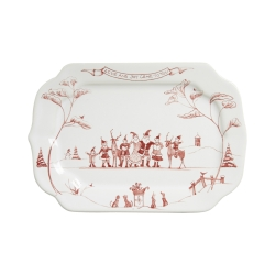 Country Estate Ruby Winter Frolic Gift Tray Love and Joy