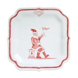 Country Estate Ruby Reindeer Games Ruby Party Plate Santa