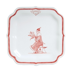 Country Estate Ruby Reindeer Games Ruby Party Plate Merry