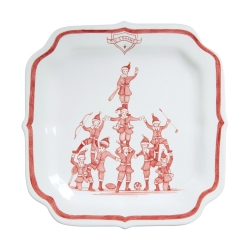 Country Estate Ruby Reindeer Games Ruby Party Plate The Coaches