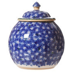 Dark Blue Lawn Cookie Jar