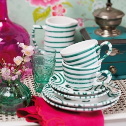 Dizzy Green Classic Cup  and  Saucer 6 oz