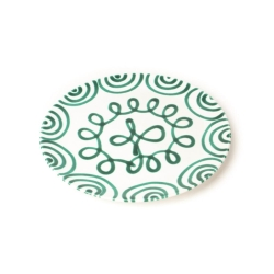 Dizzy Green Coupe Dinner Plate 11