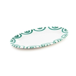 Dizzy Green Small Oval Plate