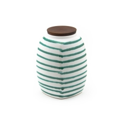 Dizzy Green Storage Jar Large