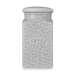Dove Grey Felicity Coffee Square Covered Storage Jar - 1 available