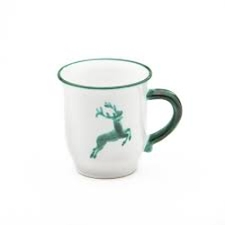 Green Deer (Stag) Coupe Chocolate Mug