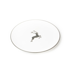 Grey Deer (Stag) Coupe Dinner Plate 11''