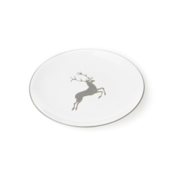 Grey Deer Coupe Dessert Plate 7.9
