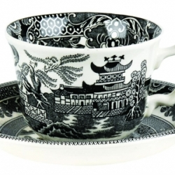 Black Willow Teacup and Saucer