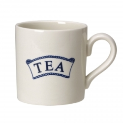 Pantry Dark Blue Badged Tea 2/3 Pint Mug