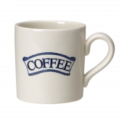 Pantry Dark Blue Badged Coffee 2/3 Pint Mug
