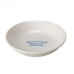 Pantry Pale Blue Badged Salt Pinch Pot - 9 available