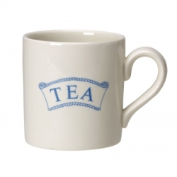 Pantry Pale Blue Badged Tea 2/3 Pint Mug
