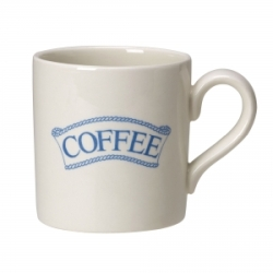 Pantry Pale Blue Badged Coffee 2/3 Pint Mug