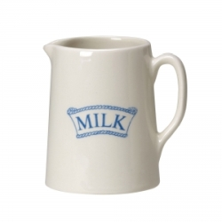 Pantry Pale Blue Badged Milk Small Tankard Jug