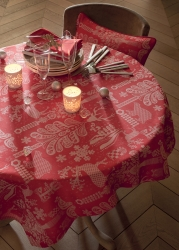 Mille Deer 69 x 69 Tablecloth Red