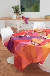 Mille Fiori Feuillage Tablecloth , 100% Cotton