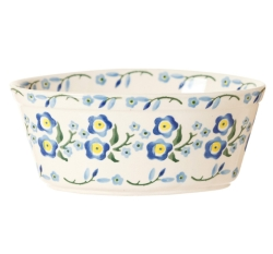 Forget Me Not Small Oval Pie Dish