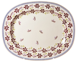 Clematis Oval Platter
