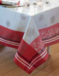 Snowflakes Tablecloth Green Sweet  69 x 143