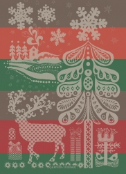 Christmas Deer Kitchen Towel Retired