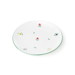 Alpine Flowers Coupe Dessert Plate, 8