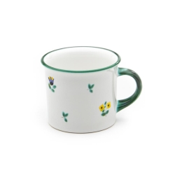 Alpine Flowers Classic Coffee Mug , Green Rim