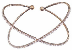 Crystal X Gold Bangle