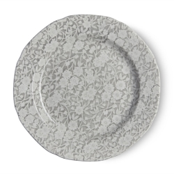 Dove Grey Calico Lunch Plate