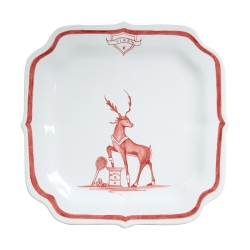 Country Estate Ruby Reindeer Games Ruby Party Plate Vixen Tennis