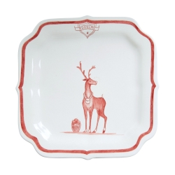 Country Estate Ruby Reindeer Games Ruby Party Plate Rudolph