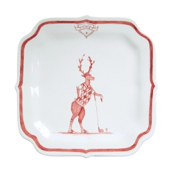 Country Estate Ruby Reindeer Games Ruby Party Plate Comet/Golf