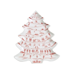 Country Estate Ruby Winter Frolic Ruby Tree Platter 12 Days of Christmas