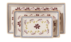 Clematis Rectangular Dishes Set/3