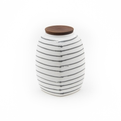 Dizzy Grey Storage Jar