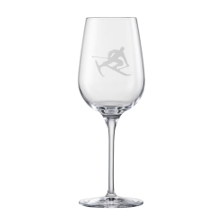 Eisch Glass, White Wine Glass Toni the Skier