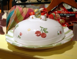 Faienceries d'Art de Malicorne Mille Fleurs Butter/Cheese Dish