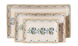 Forget Me Not  Rectangular Dish Set/3