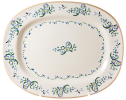 Forget Me Not Oval Platter