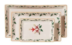 Fuchsia Rectangular Dishes Set/3
