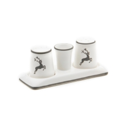 Grey Deer (Stag) Classic Salt  and  Pepper